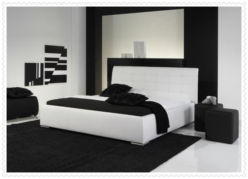 Modern Siyah Beyaz Yatak Odası