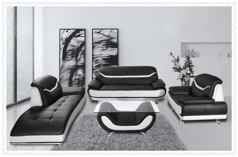 Modern Tasarım Siyah Beyaz Koltuk Takımları