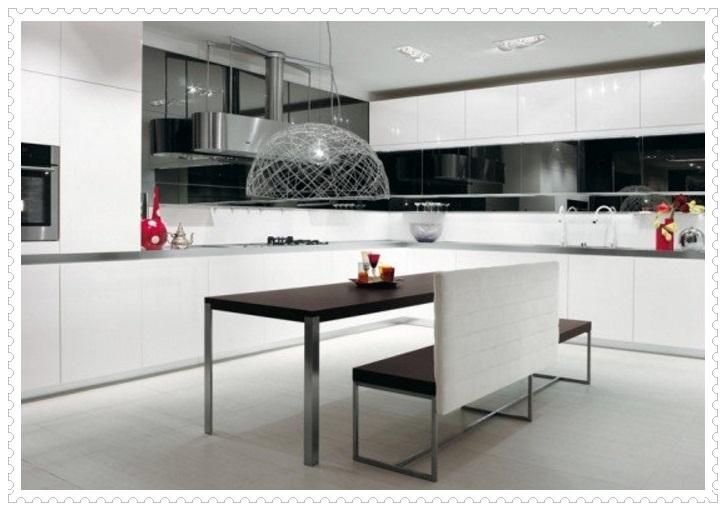 Muhteşem Siyah Beyaz Mutfak Dolapları