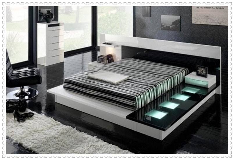 Muhteşem Siyah Beyaz Yatak Odası