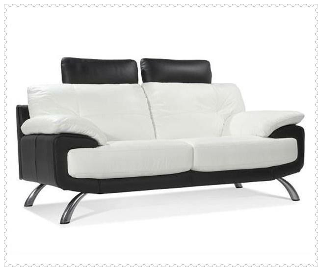 Oturma Odası Siyah Beyaz Koltuk