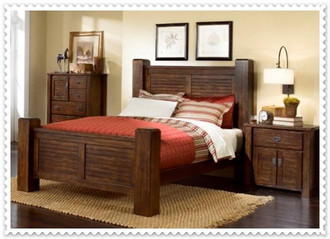 Rustik Yatak Odası Modelleri-6