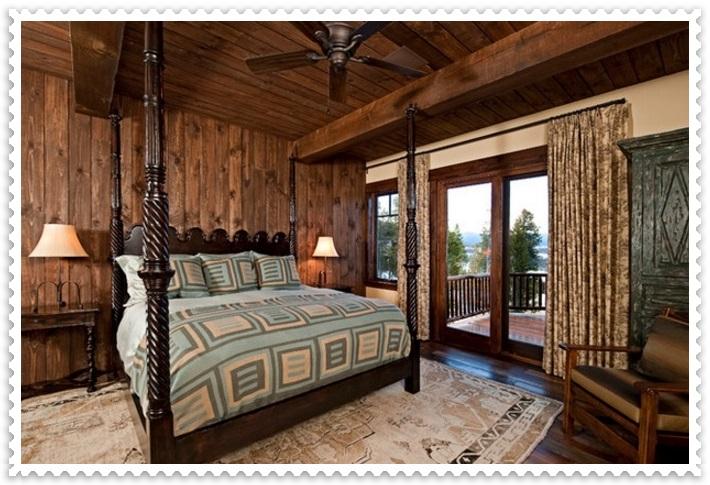 Şık Rustik Yatak Odası Perdeleri