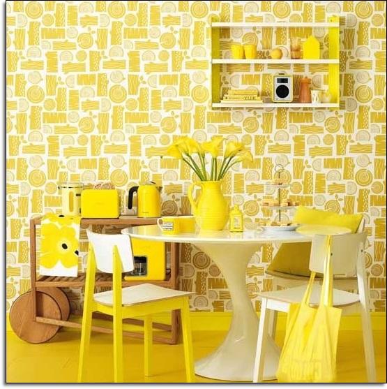 Şık Sarı Yemek Odası