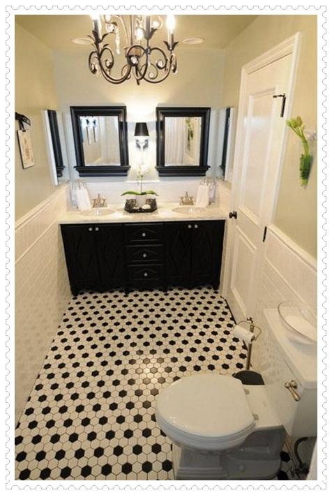 Siyah Beyaz Banyo Fayansları-11