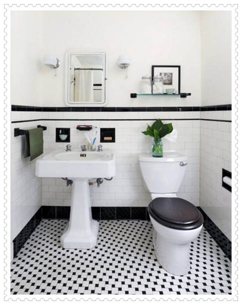 Siyah Beyaz Banyo Fayansları-3