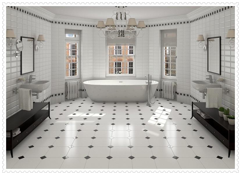 Siyah Beyaz Banyo Fayansları-4
