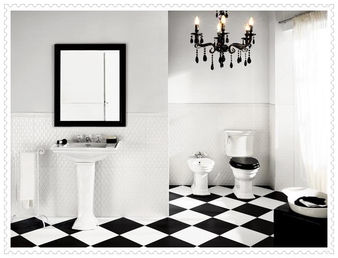 Siyah Beyaz Banyo Fayansları