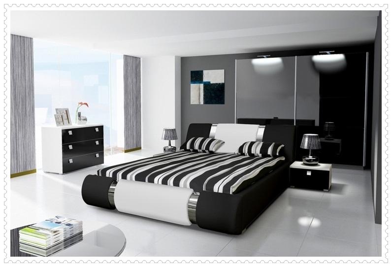 Siyah Beyaz Mobilya Yatak Odası Takımları