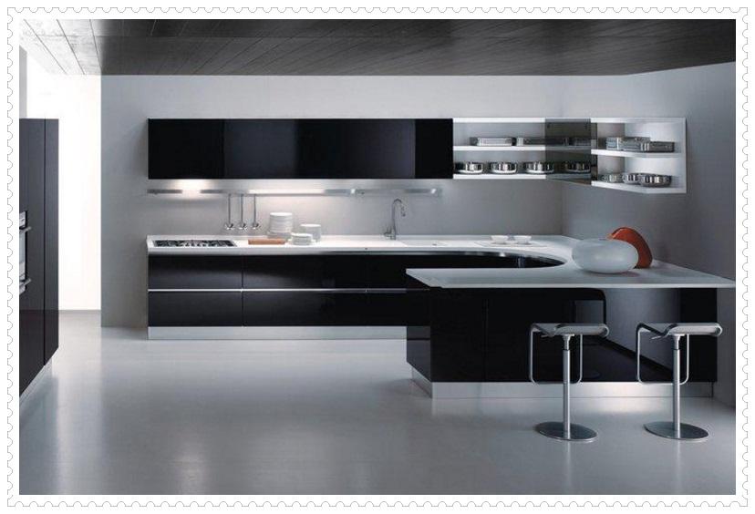 Siyah Beyaz Modern Mutfak Tasarımları