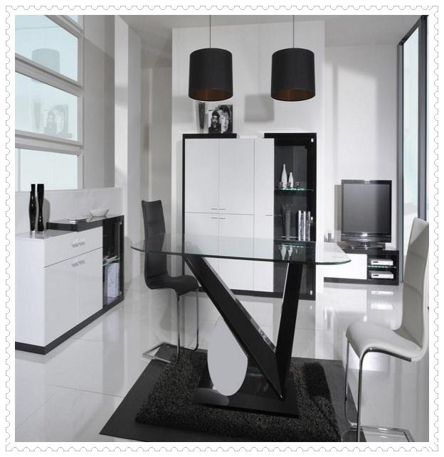 Siyah Tasarım Mutfak Masası