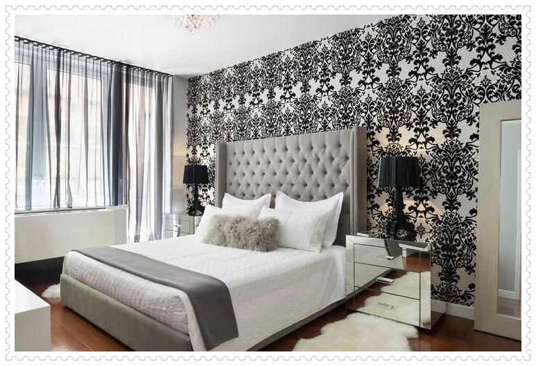 Siyah Yatak Odası Duvar Kağıdı