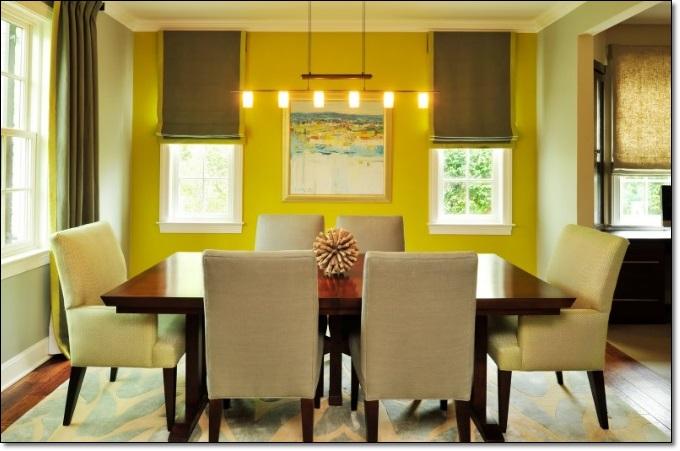 Tasarım Sarı Yemek Odası