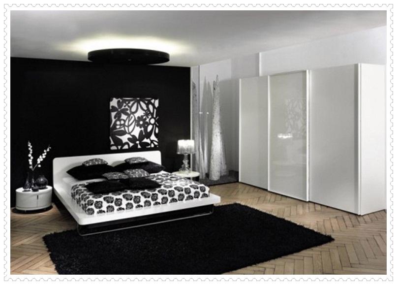 Tasarım Siyah Beyaz Yatak Odası