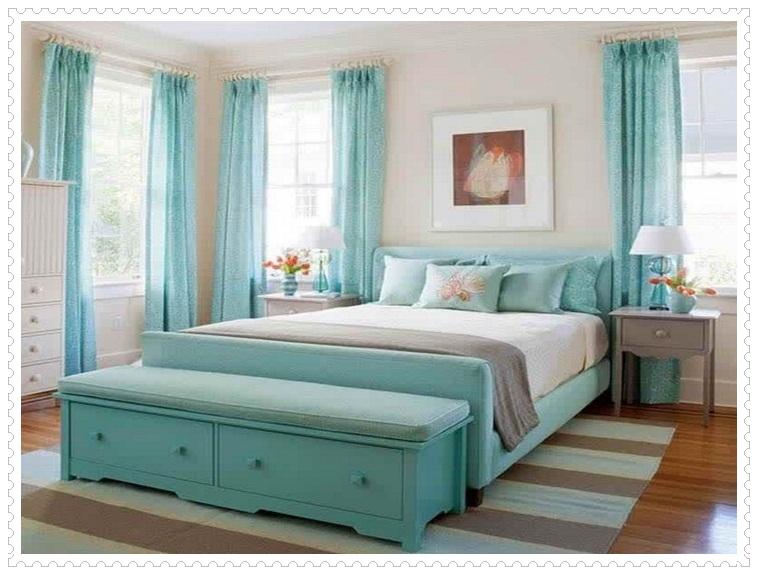 Turkuaz Yatak Odası Dekorasyonu