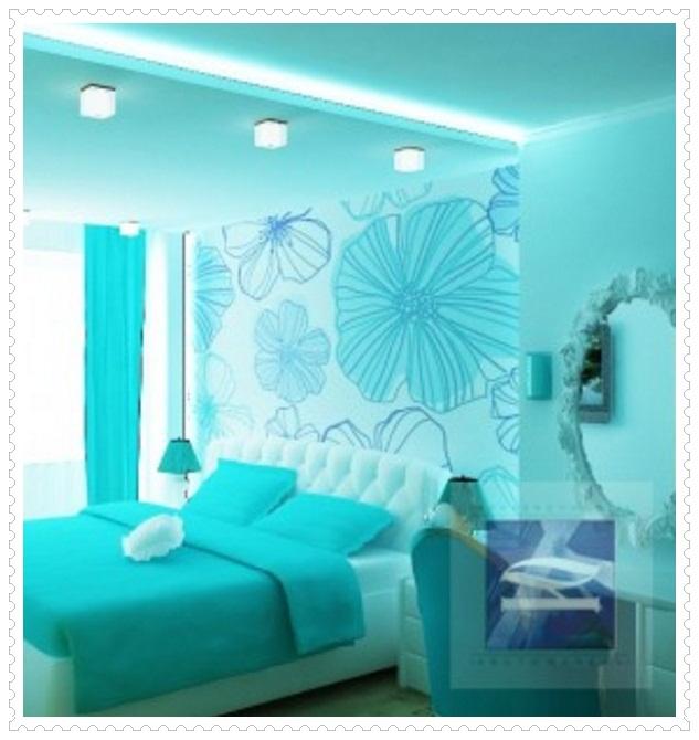 Turkuaz Yatak Odası Tasarımı