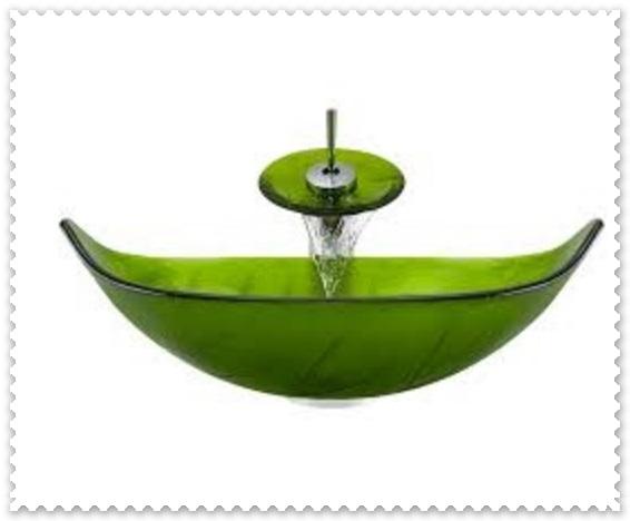 Yeşil Cam Lavabo Modelleri