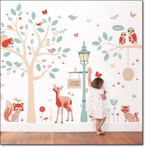 Çocuk Yatak Odası Duvar Stickarları