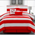 Kırmızı Beyaz Yatak Örtüsü Modelleri