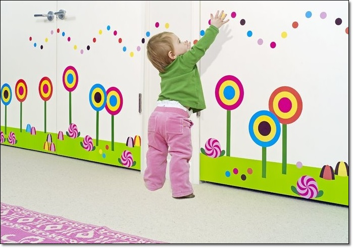Modern Bebek Odası Duvar Stickarları