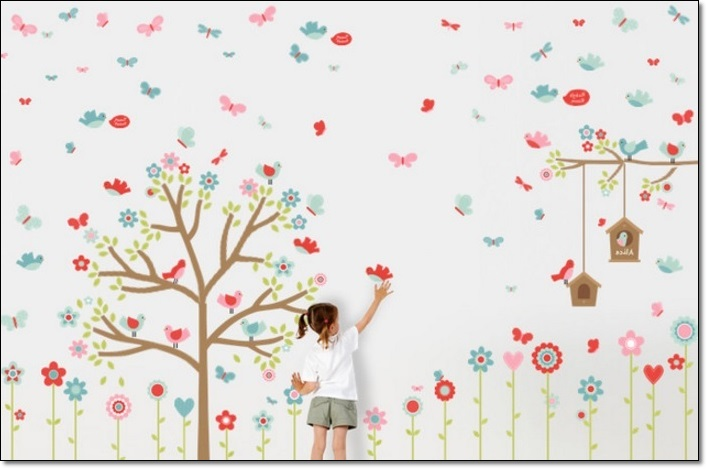 Modern Çocuk Odası Duvar Stickarları