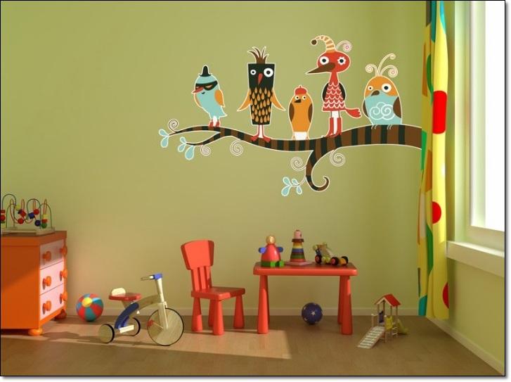 Renkli Çocuk Odası Duvar Stickarları