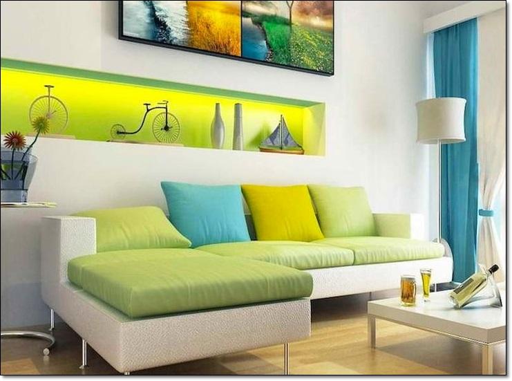 Salon Dekorasyonu Renk Uyumu
