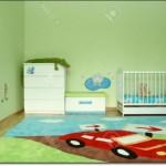 Araba Resimli Bebek Odası Halısı