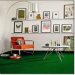 Modern Yeşil Oturma Odası