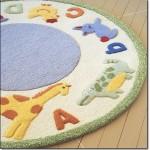 Oval Bebek Odası Halısı