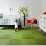 Yeşil Bebek Odası Halısı