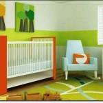 Yeşil Bebek Odası Halısı-2