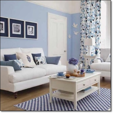 Dekoratif mavi salon dekorasyonu dekorasyon modelleri for Sky blue living room ideas