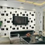 Desenli Tv Arkası Duvar Kağıdı