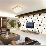 Geometrik Desenli Tv Arkası Duvar Kağıdı