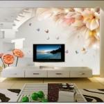 Modern Tv Arkası Duvar Kağıdı