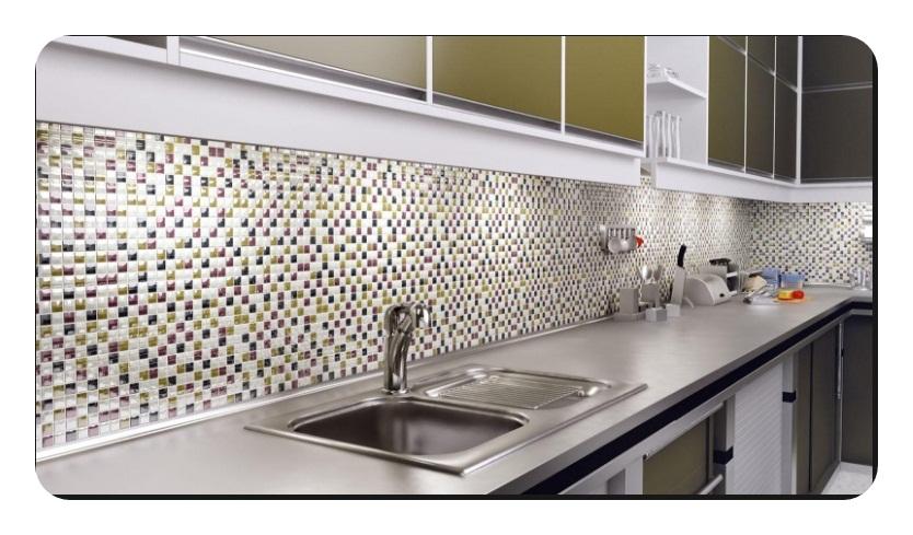 Mutfak Tezgah Arası Cam Dekorasyon