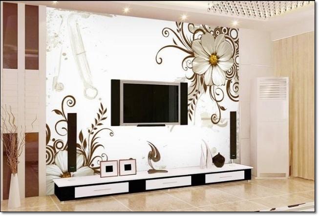 Salon Tv Arkası Duvar Kağıtları