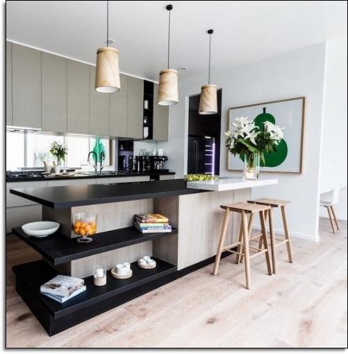 Siyah Küçük Mutfak Tasarımı