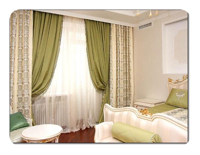 Yeşil Yatak Odası Perdeleri