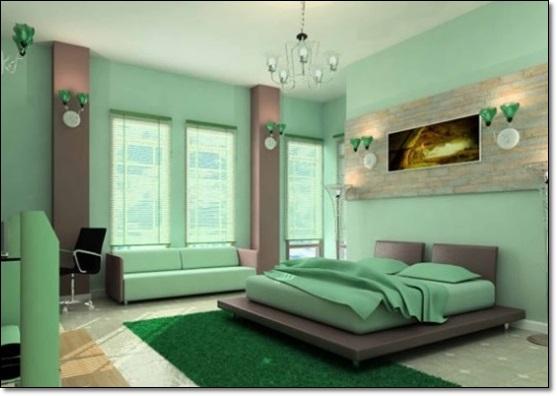 Amazon Yeşili Yatak Odası-2