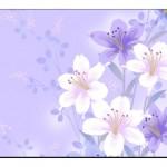 Çiçek Desenli Duvar Kağıtları-7