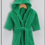 Yeşil Çocuk Bornozu