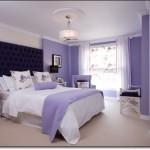 Eflatun Rengi Yatak Odası Dekorasyonu