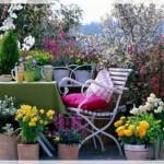 Çiçekli Balkon Dekorasyonu Fikirleri