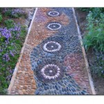 Renkli Bahçe Yürüyüş Yolu Taşları