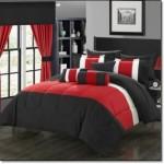 Kırmızı Siyah Yatak Örtüleri