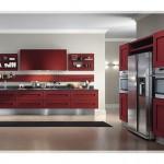 Bordo Krem Mutfak Dolabı Modelleri-4