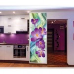 Çiçek Desenli Mutfak Dekorasyonu