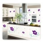 Çiçek Desenli Ada Mutfak Modelleri